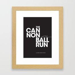 The Cannonball Run - Lamborghini Countach Framed Art Print