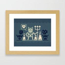 Skull collector Framed Art Print