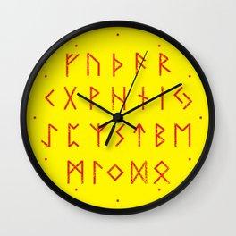 Elder Futhark Wall Clock