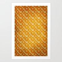 yellow pattern Art Prints featuring Yellow Pattern by Thomas Bryant