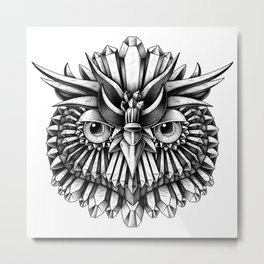 Crystal Owl Metal Print