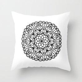 Scalloped Mandala Throw Pillow