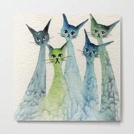 Lakeland Whimsical Cats Metal Print