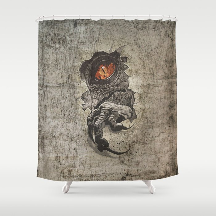 Jurassic Alternate Shower Curtain By Ejb3photography