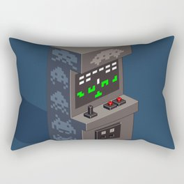 SpaceInvaders arcade cabinet Rectangular Pillow