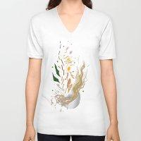 ramen V-neck T-shirts featuring Ramen Xplosion by Jiro Tamase