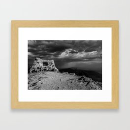 Kiwanis Club House at Sandia Mountains in New Mexico  Framed Art Print