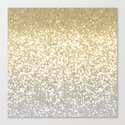 Gold and Silver Glitter Ombre by marilenaxiari