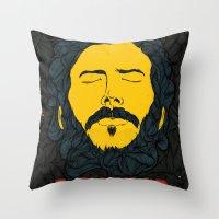bon iver Throw Pillows featuring Bon Iver by Oliveira37/Tadeu Amaral