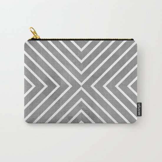 Stripes in Grey Carry-All Pouch