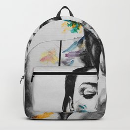 Monica Bellucci sexy portrait | smoking woman drawing Backpack