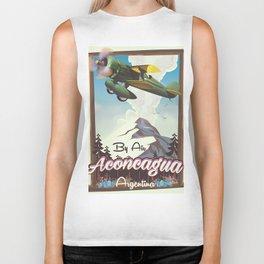 Aconcagua -Argentina vintage flight poster print. Biker Tank