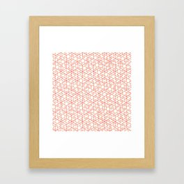 Jali Fusion - Red Framed Art Print