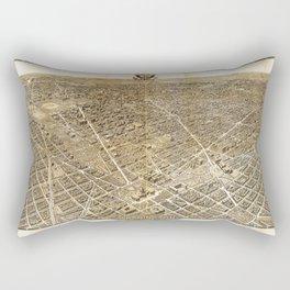 Aerial View of Washington D.C. (1921) Rectangular Pillow