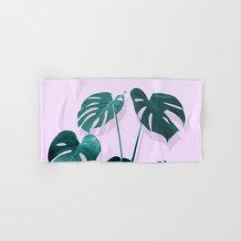 Monstera Palm on Musk Hand & Bath Towel