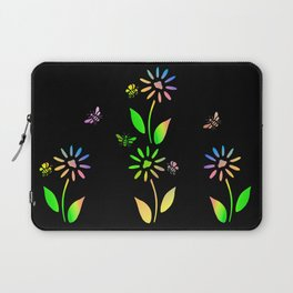 Bees And Flowers Laptop Sleeve