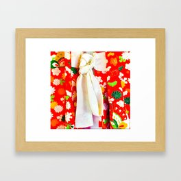 A Garden Girls' Day Kimono Framed Art Print