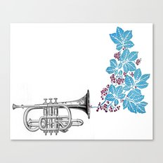 cornet. Canvas Print