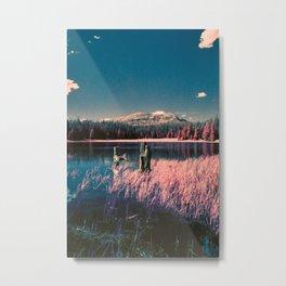 Surreal lake in the High Uinta mountains, Utah Metal Print