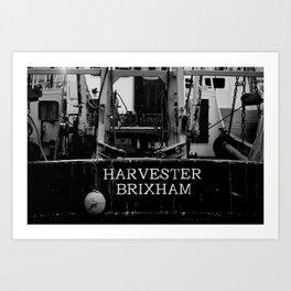 Harvester Brixham Fishing Boat Art Print