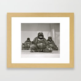 Laughing Buddah Framed Art Print