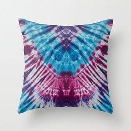 Groovy Blues Tie Dye Bandana Throw Pillow