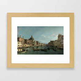A View of the Grand Canal by Canaletto Framed Art Print