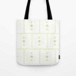 Green Seeing Eye Pattern Tote Bag