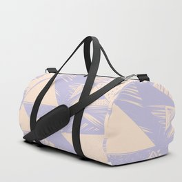 Modern lilac ivory violet geometrical shapes patterns Duffle Bag