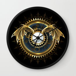 Mechanical Dragon Wings with a Lens ( Steampunk ) Wall Clock