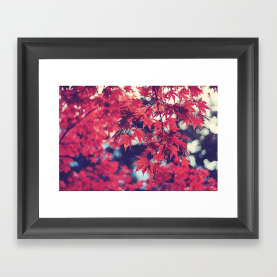 Still autumn in my heart Framed Art Print