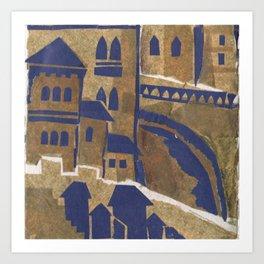 Medieval town-2 Art Print