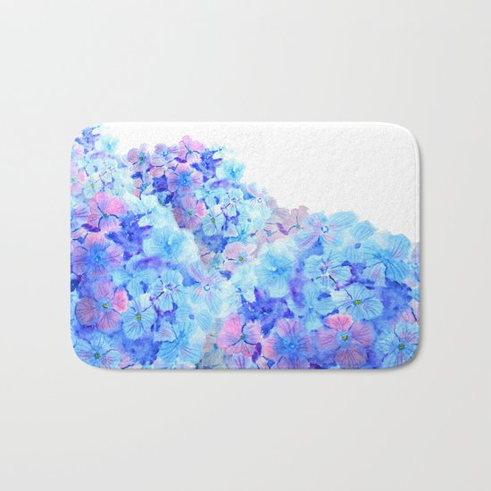 mountain of hydrangea Bath Mat