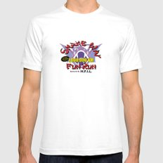 Snake Way Fun Run White Mens Fitted Tee SMALL