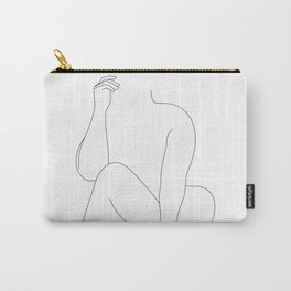 Nude figure line drawing - Elara Carry-All Pouch