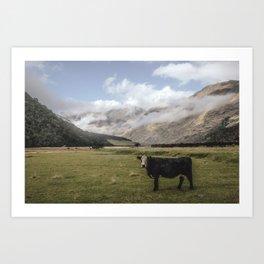 Hello Mrs. cow Art Print