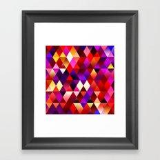 Texture triangles lilia Framed Art Print