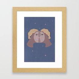 Moon Kiss Framed Art Print