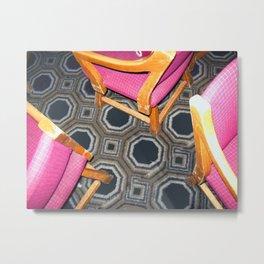 Pink Chairs Metal Print