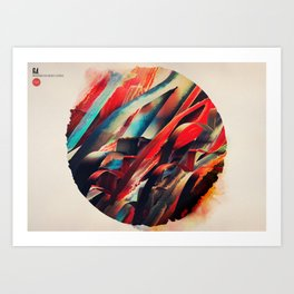 64 Watercolored Lines Art Print