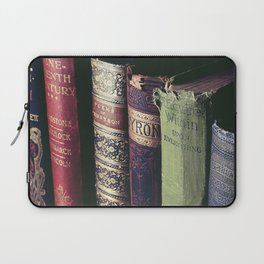 Vintage low light photography of books Laptop Sleeve