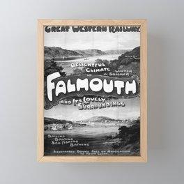 retro vintage GWR Falmouth poster Framed Mini Art Print