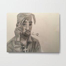 Tupac Metal Print