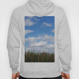 """Corn field in autumn with """"popcorn"""" clouds Hoody"""