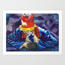 Thinking Clown Art Print