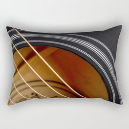 Guitar String Abstract 4 Rectangular Pillow