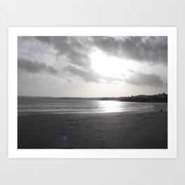 Autumn day at the beach Art Print