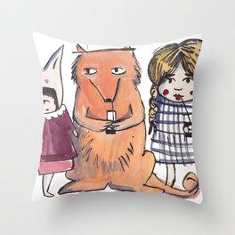 Moo Friends Throw Pillow