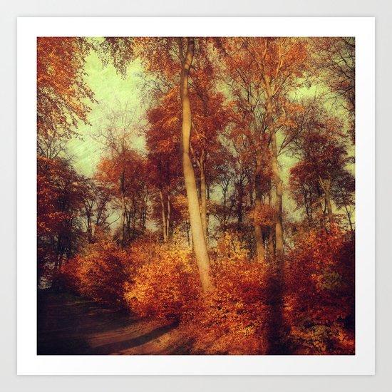 fall copper Art Print