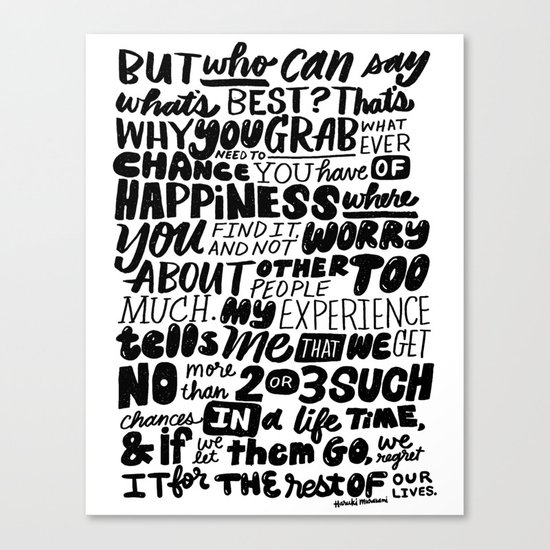 who can say what's best? Canvas Print